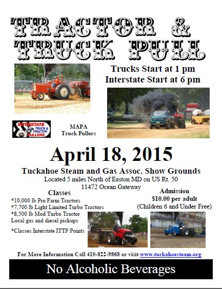 Tractor and Truck Pull at Tuckahoe Steam and Gas April 18, 2015